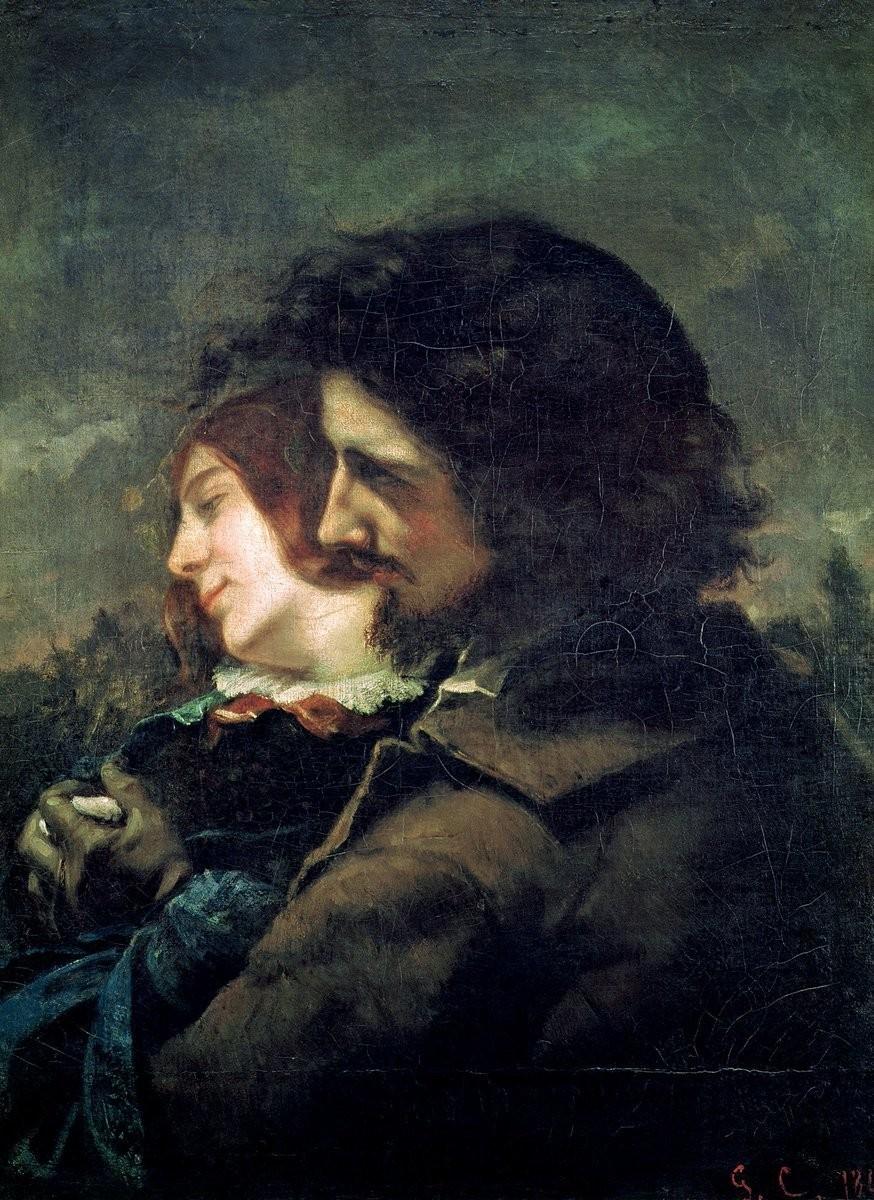 मुझ से हर बार नज़रें चुरा लेता है वो 'फ़राज़', मैंने कागज़ पर भी बना के देखी हैं आँखें उसकी.. .... अहमद फराज़ English : Avoiding lovely glimpse, 1844 Painting by Gustave Courbet, French, 1819 - 1877