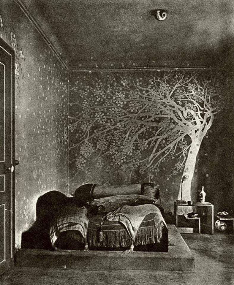 The bedroom of Paul Poiret, Paris, circa 1924, photographer unknown - from the great Stephen Ellcock