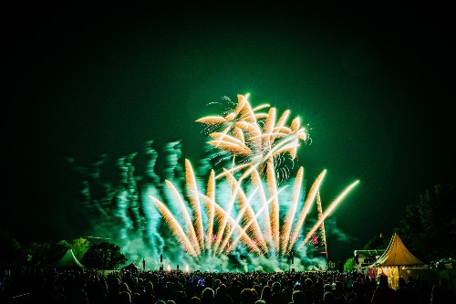 Duelling Fireworks Festivals in Pictures