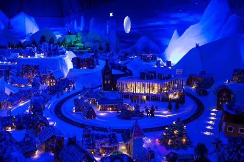 A Gingerbread Town in Norway