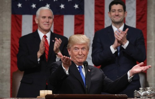 Trump Delivers First State of the Union Address: Pictures