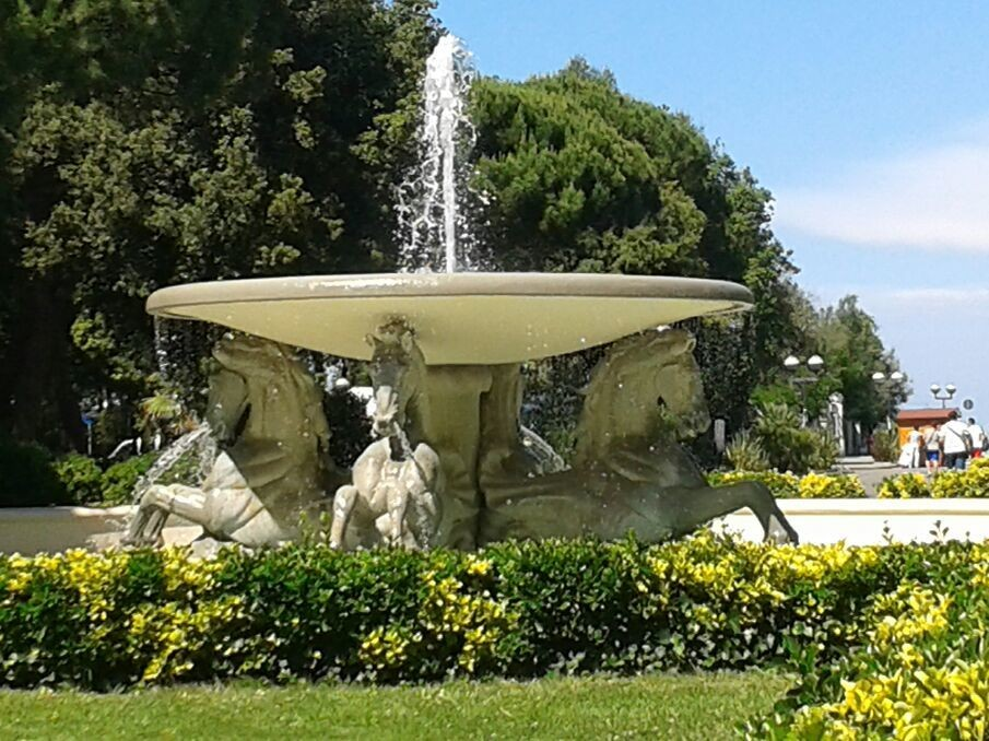 Federico Fellini's park, Rimini, Italy