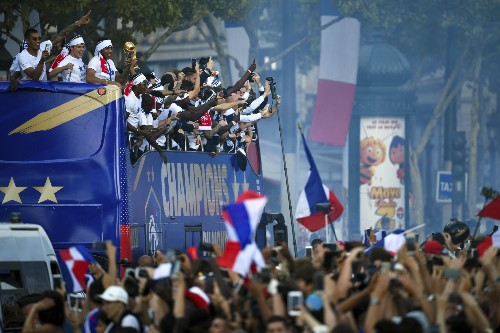 Celebrating France's World Cup Victory: Pictures