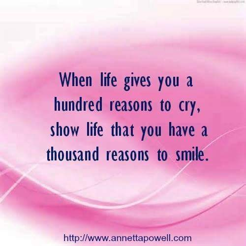 When life give you a hundred reasons to cry..! #quotes #thoughts #wisdom #instalike #instamood #like #love #smile
