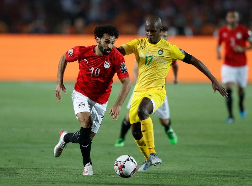 Soccer: Salah on target as Egypt progress to last 16