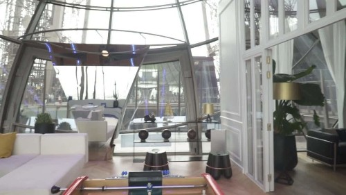 Inside the Eiffel Tower apartment