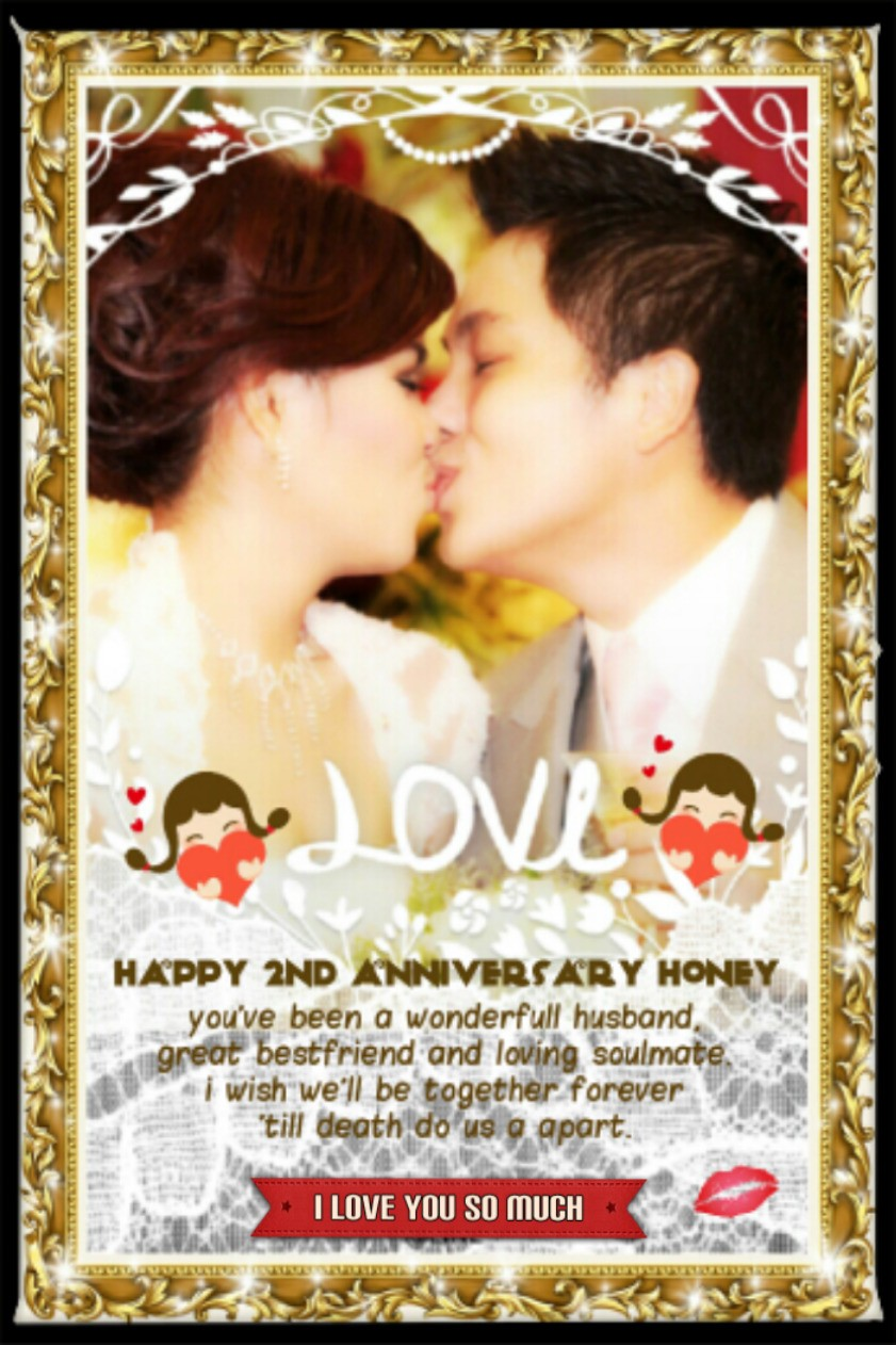 I'm so happy to be your wife.. Thank u for everything honey..