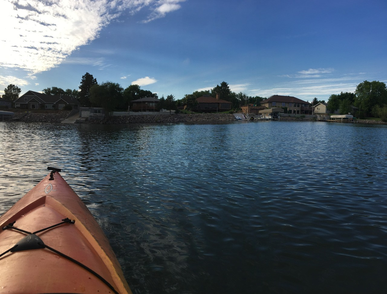 Kayaking on Lake Kampeska
