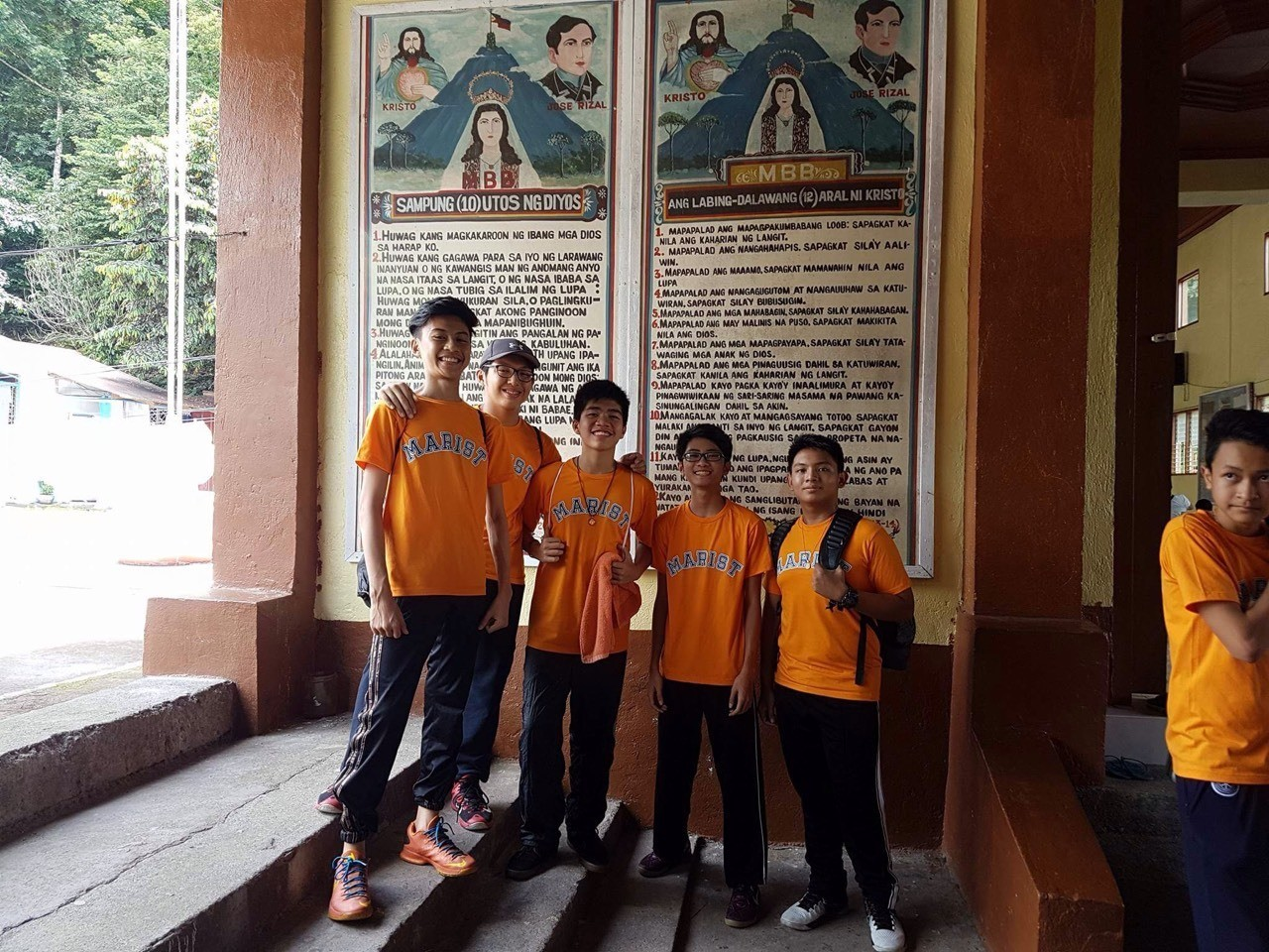 SLR boys at the feet of Mt. Banahaw Group 6 of SLR visits the 10 commandments during their field trip at the church at the feet of Mt. Banahaw in Dolores, Quezon on September 16, 2016.