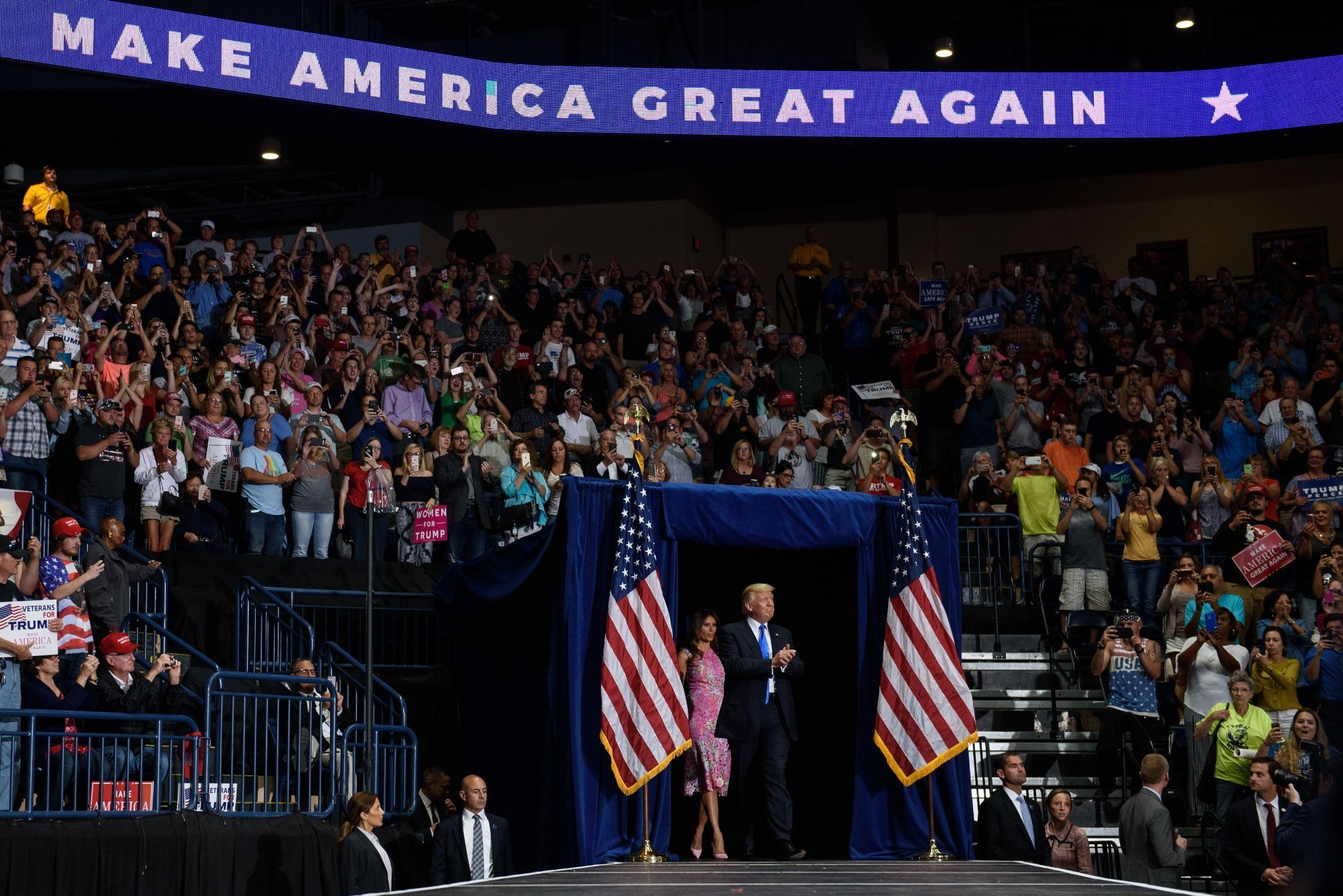 At Ohio campaign rally, Trump offers an 'unfiltered' view of his presidency