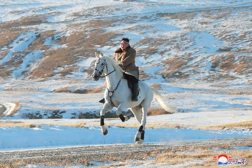 Policy shift anticipated as North Korea's Kim rides white horse on sacred mountain