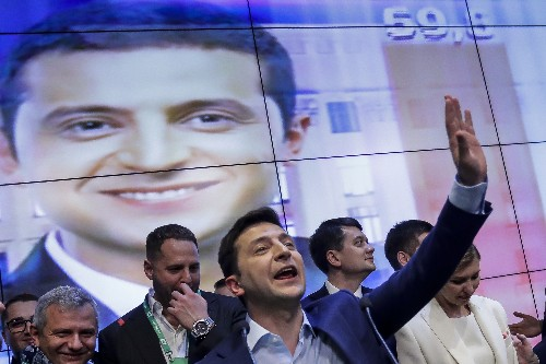 New Ukrainian leader's campaign took page from sitcom script