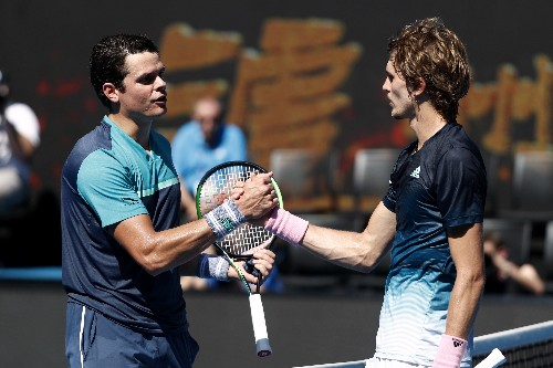 Tennis: Angry Zverev bows out to clinical Canadian Raonic