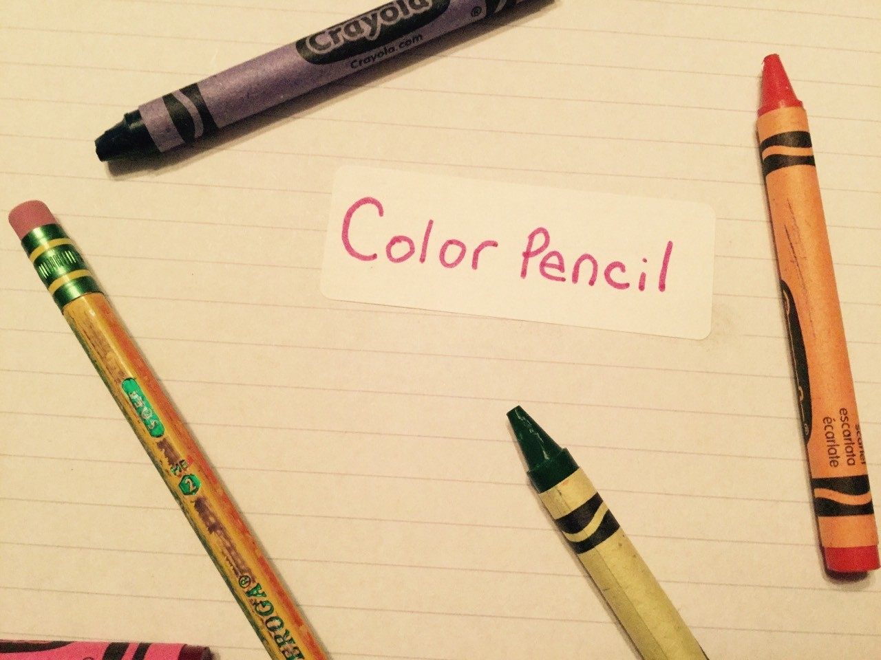 Get some crayons and color a pencil. Then it will be awesome!