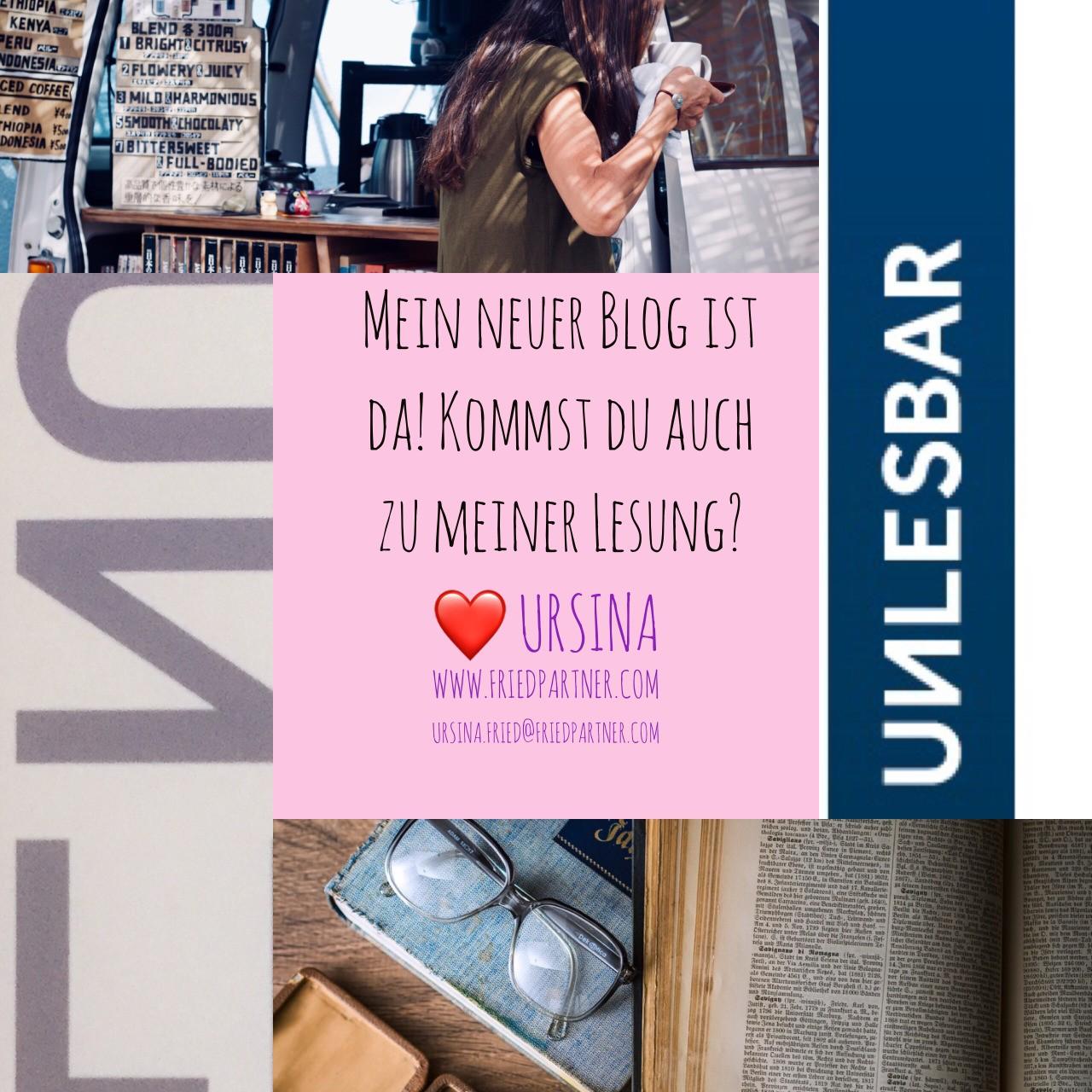 Nachtrag... da findest du meinen Blog🙃😉🍀😘 #lesungursina #autorin #unlesbar #lebensfreude