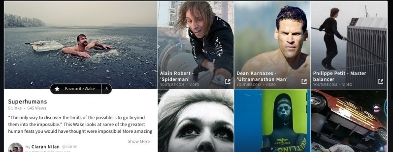 Wakelet is another content curation platform, but it's particularly good looking