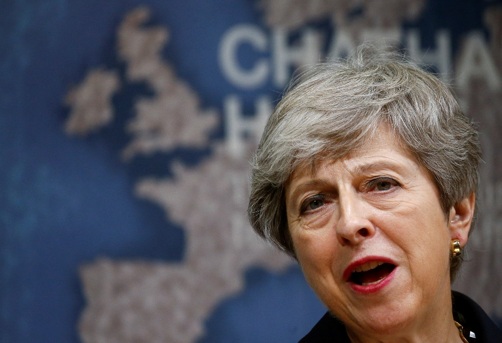 Former UK PM May says government putting UK integrity at risk, could damage N. Ireland peace