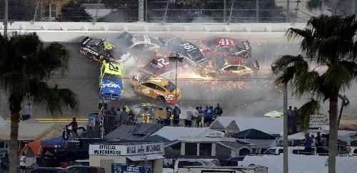 The Latest: Denny Hamlin wins 2nd Daytona 500 in 4 years