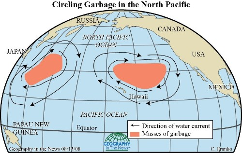 Geography in the News: Swirling Ocean Garbage Dumps
