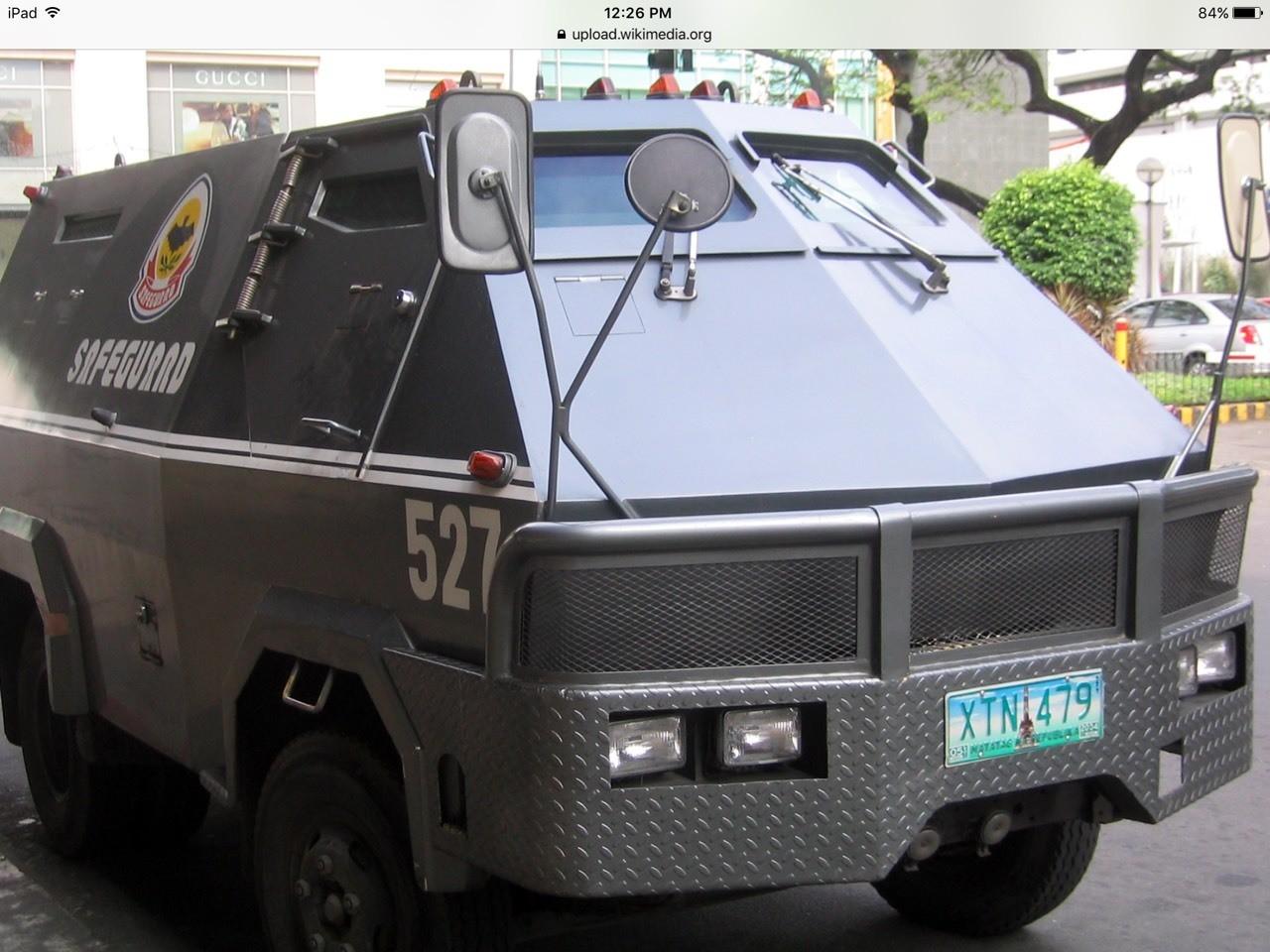 Look an armored car!