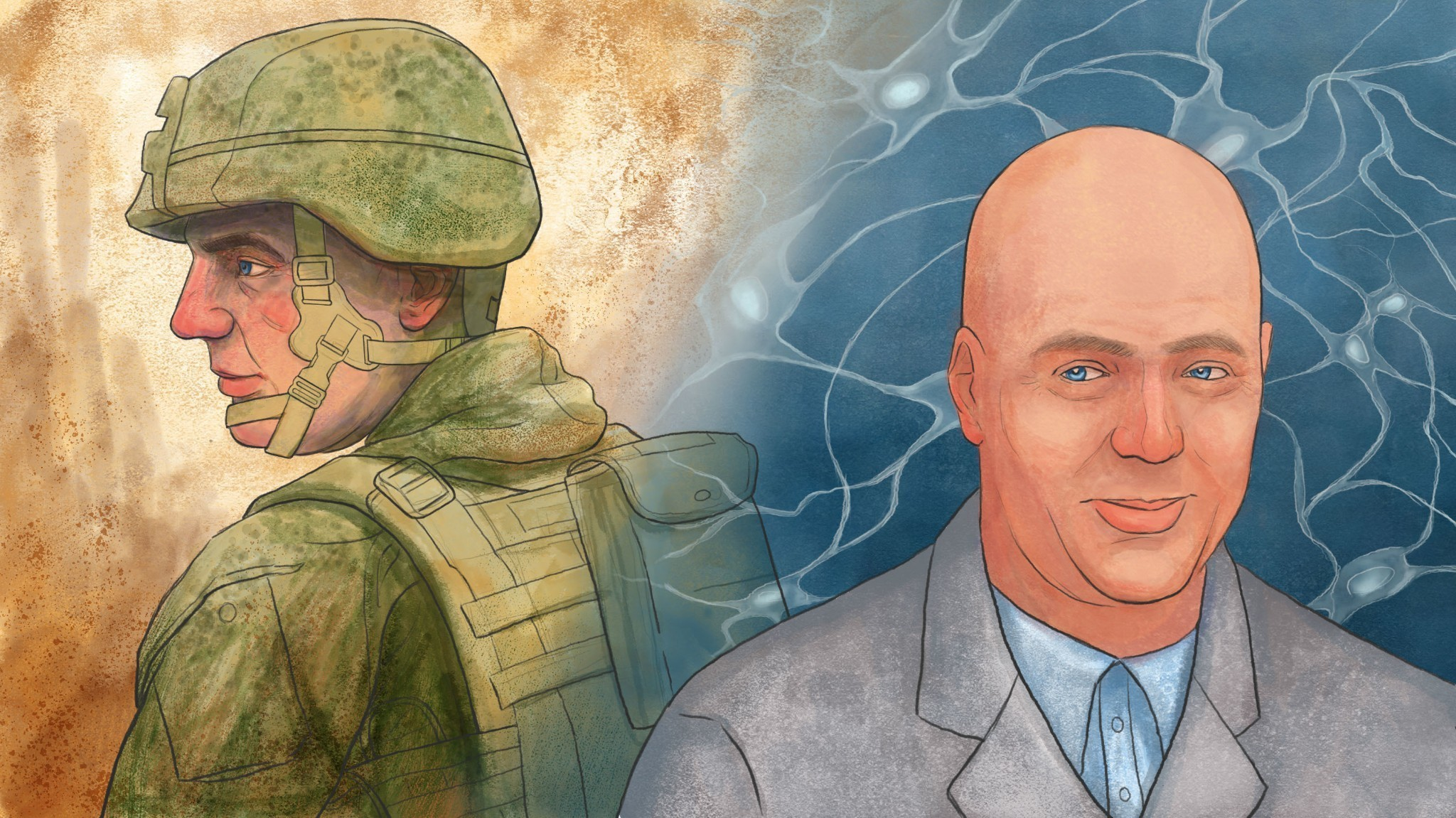 An Army Buddy's Call For Help Sends A Scientist On A Brain Injury Quest
