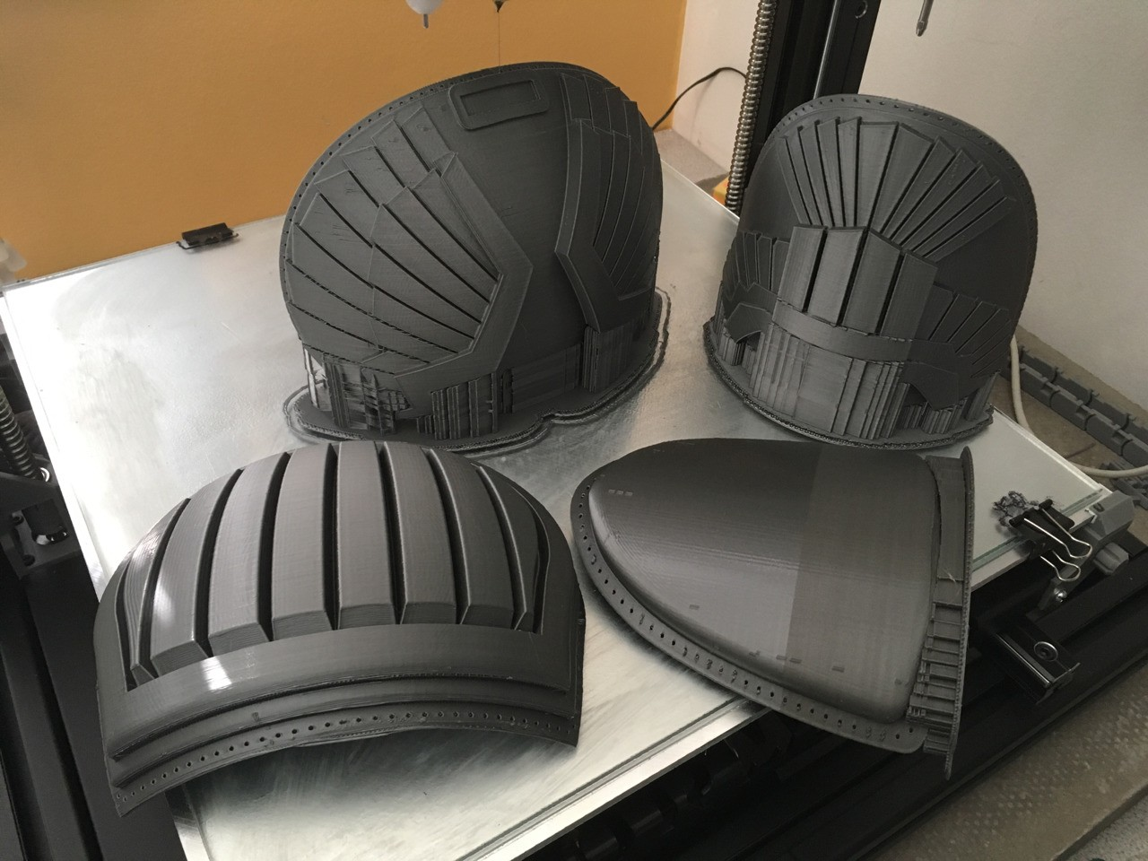 The hot sunny UK weather spell is nice, but it's playing havoc with the 3Dprinters and filament:-( and only 2 are reliable atm. #3dprint #cosplay #dredd #imagineering @idmimagineering https:www.idmmagineering.co.uk