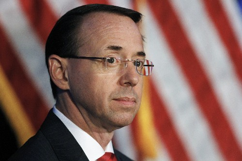 Rosenstein said he was 'horrified' at how Comey was fired