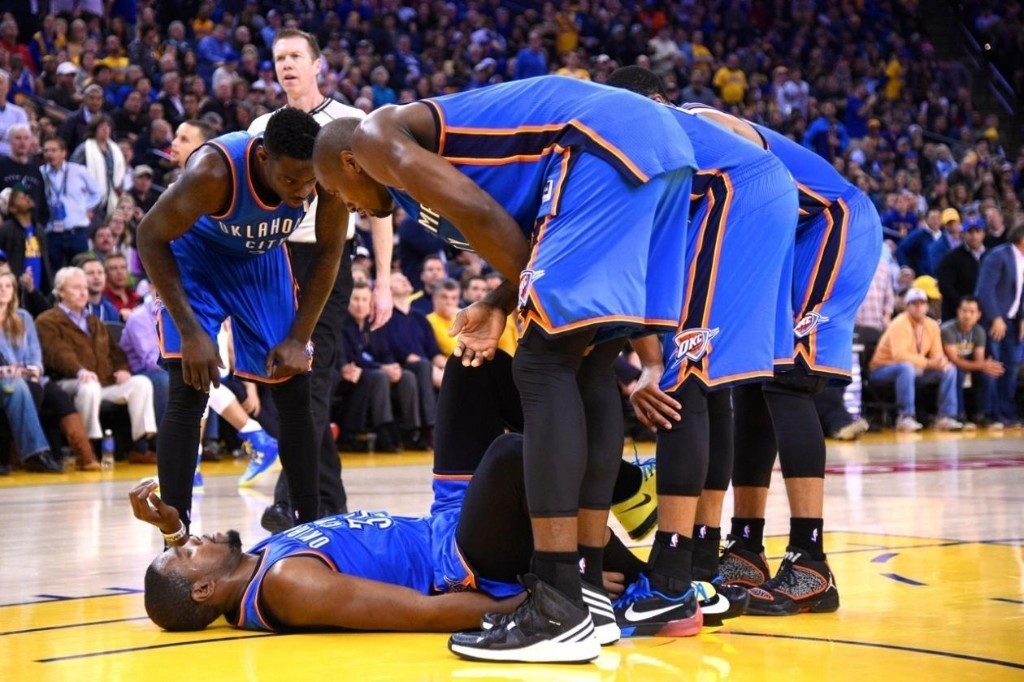 Kevin Durant out vs Spurs