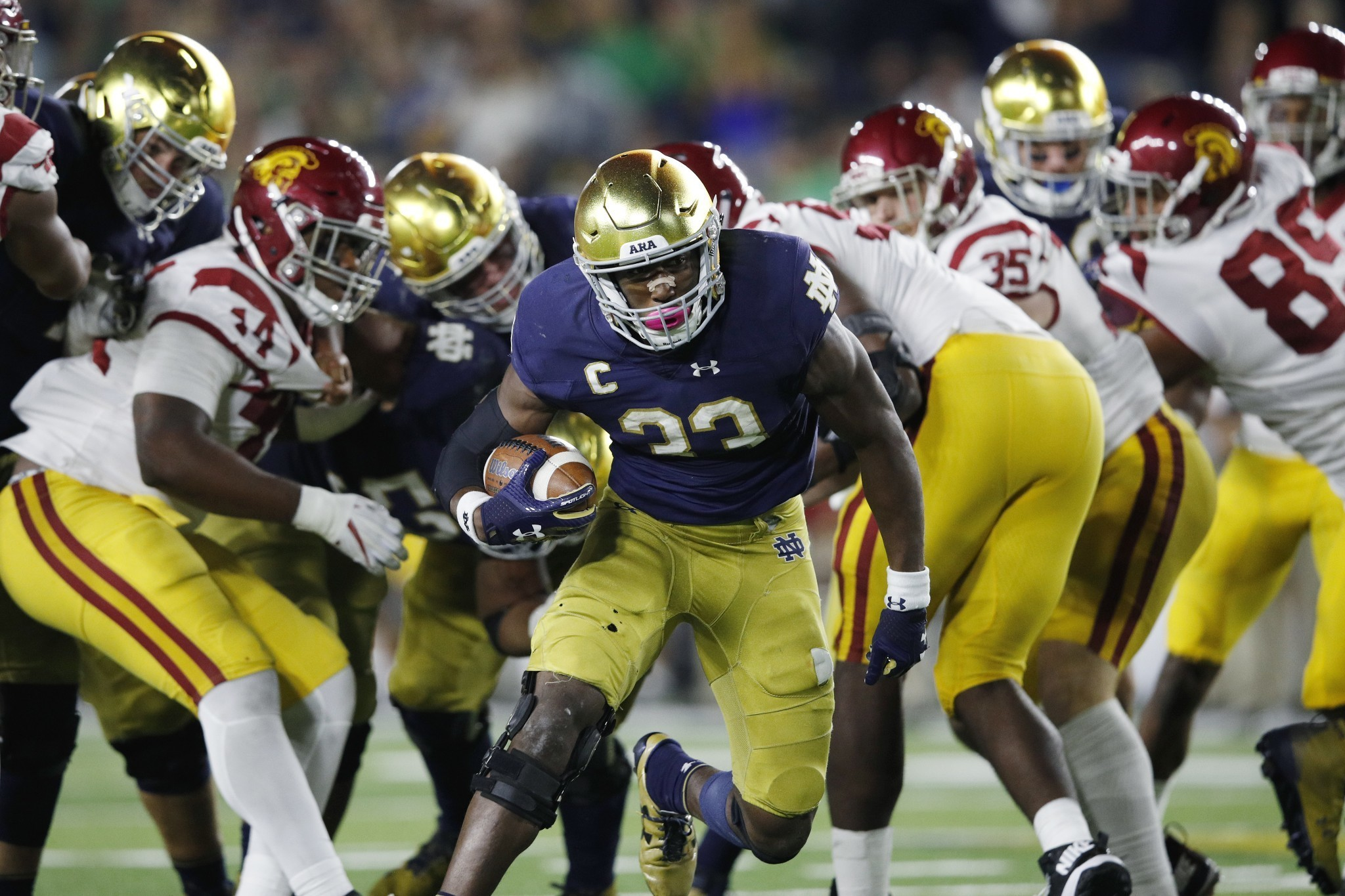 How Josh Adams and Notre Dame's new smashmouth run game are leading the way for the Irish