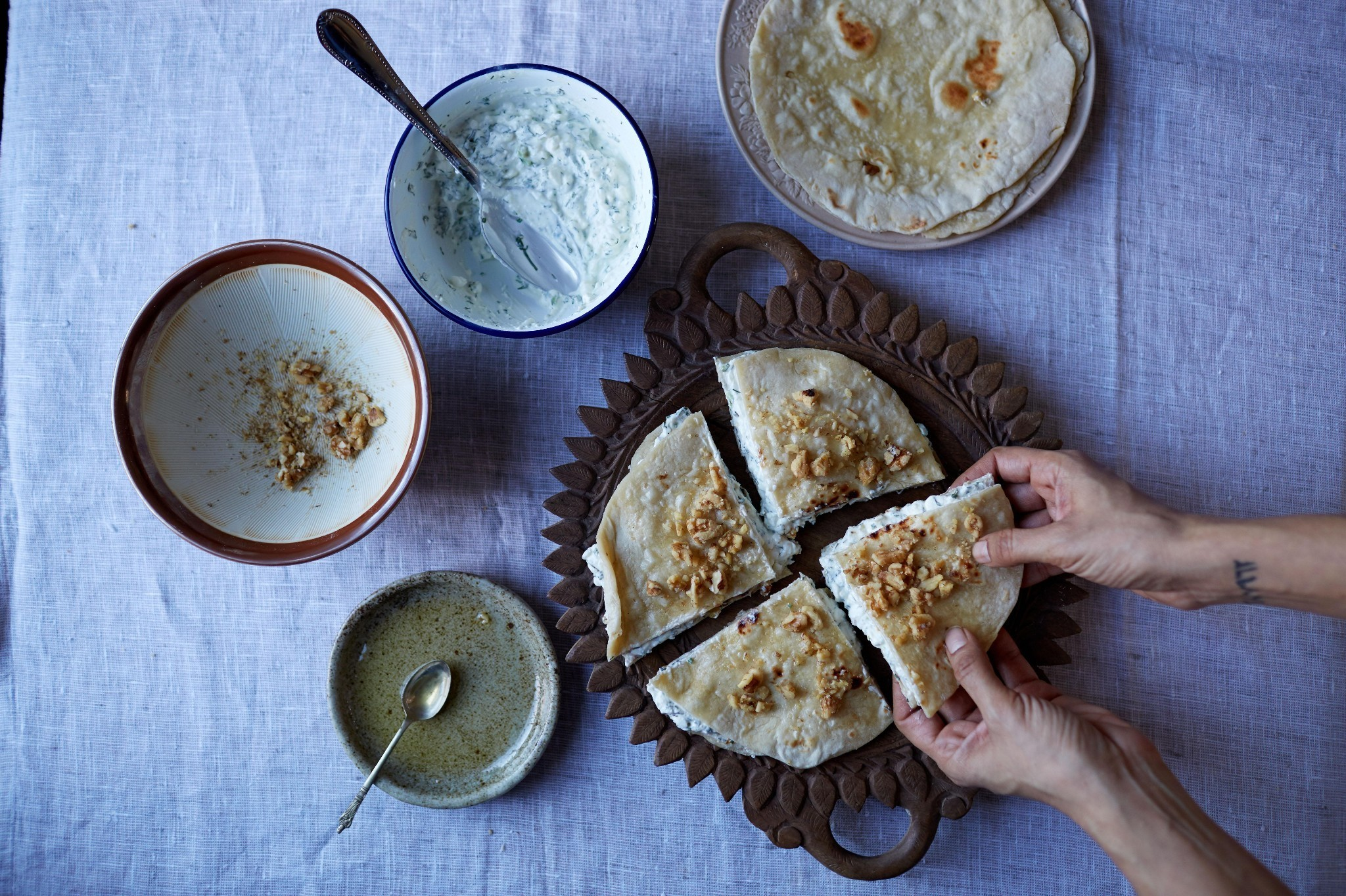 Recipes for spiced chicken and chapatis from Pakistan