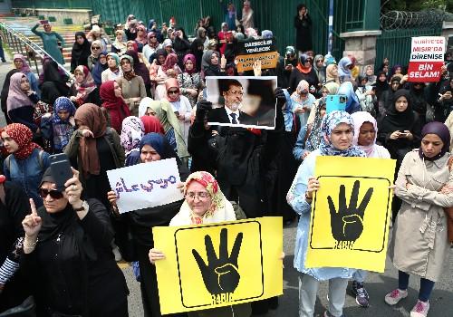 Hundreds of Brotherhood supporters mourn Egypt's Mursi in Turkey