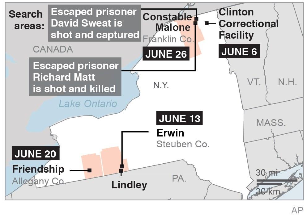 2nd escaped murderer is shot, captured after other killed