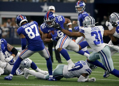 Giants' Shepard played after concussion, says wanted to win