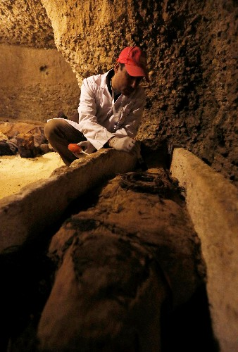 Egypt unveils ancient burial site, home to 50 mummies