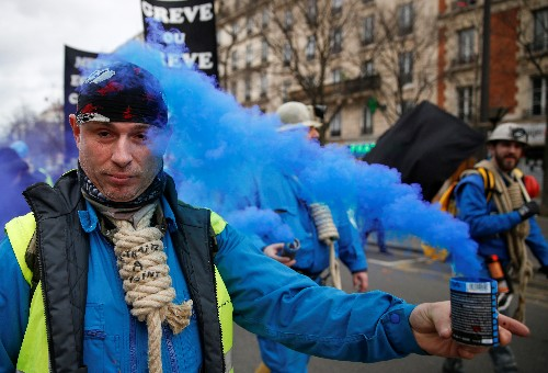 Trade unions back on streets but French pension fight shifts to parliament