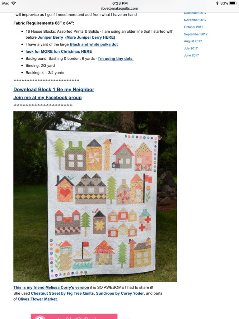 Be my Neighbour Quilt - Magazine cover