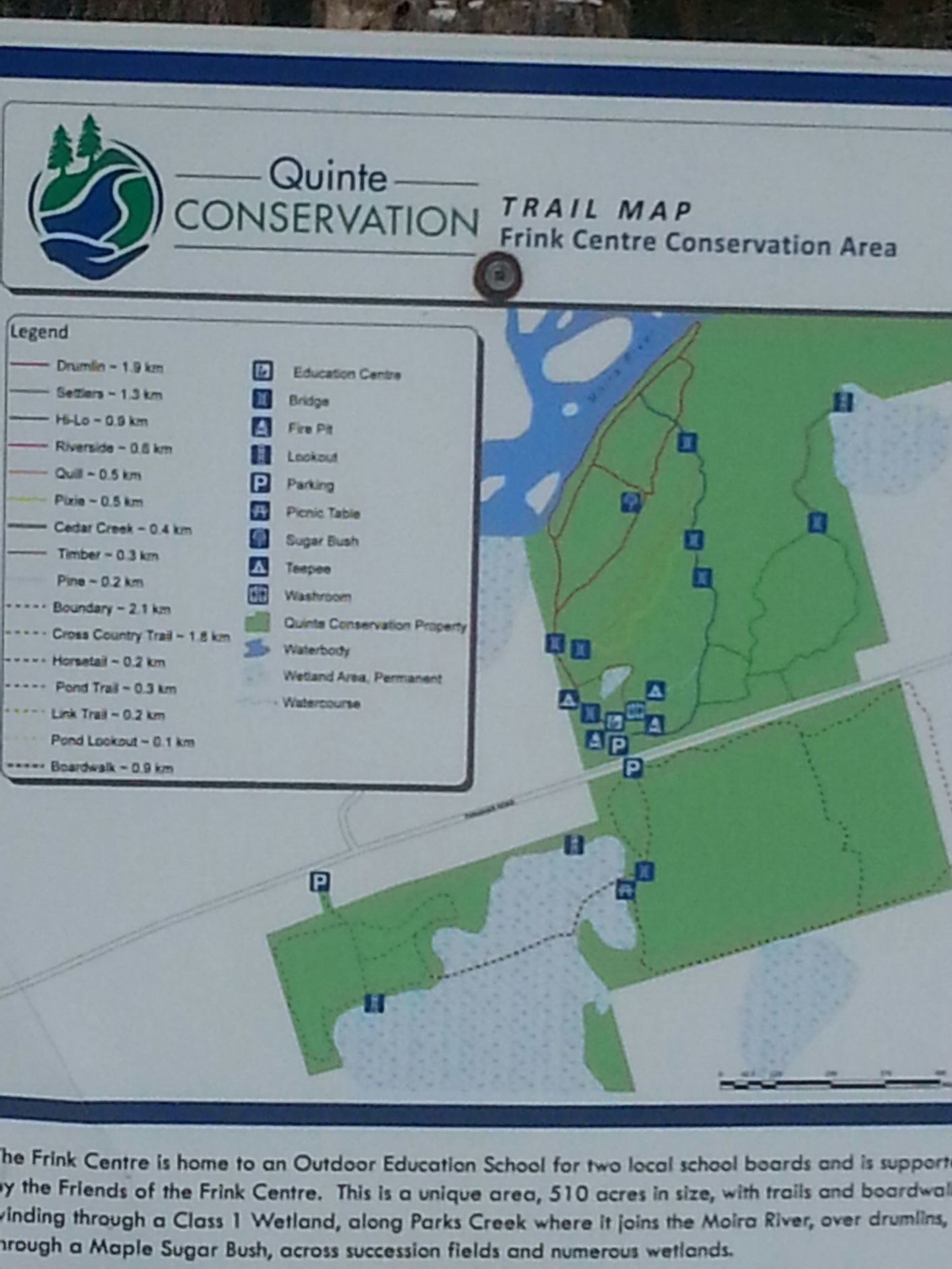 This is a map of the frink center. It pinpoints its location on the map.