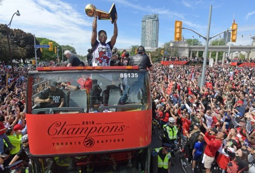 NBA notebook: Gunshots mar Raptors' title celebration