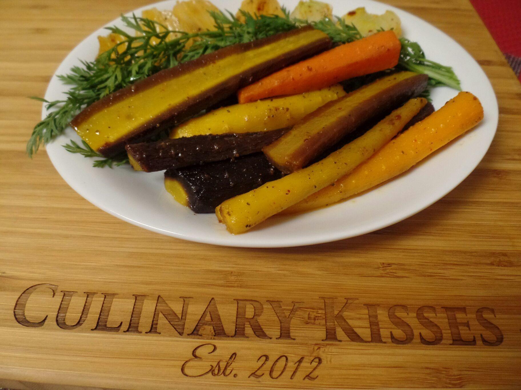 Roasted multi-colored carrots