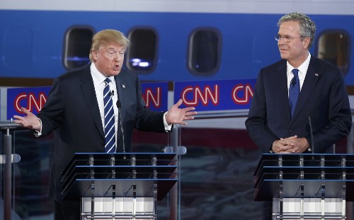 The GOP Goes At It: Pictures from the Debate