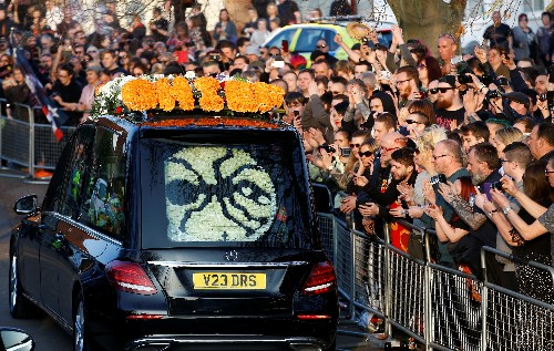 Music and motorbikes mark UK funeral of Prodigy frontman Keith Flint