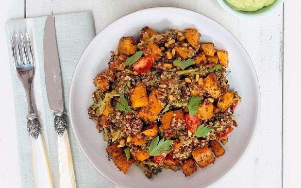Roasted butternut squash and pine nut quinoa recipe