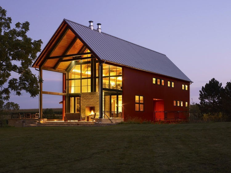 Articles about family salvages 1880s barn create their nearly net zero escape on Dwell.com - Dwell