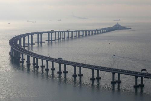 China opens mega-bridge linking Hong Kong to mainland