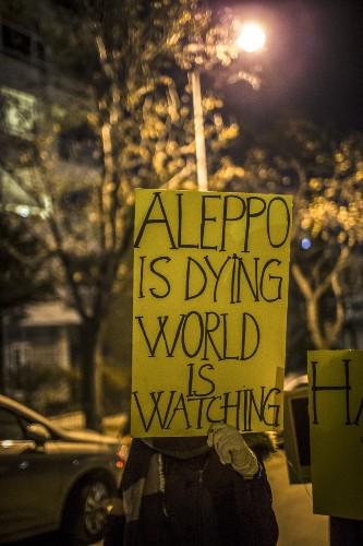 Support for Victims of Aleppo Around the World: Pictures
