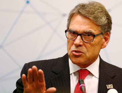 Trump says U.S. Energy Secretary Perry to step down at end of the year