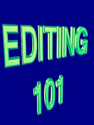 EDITING 101: - Cover