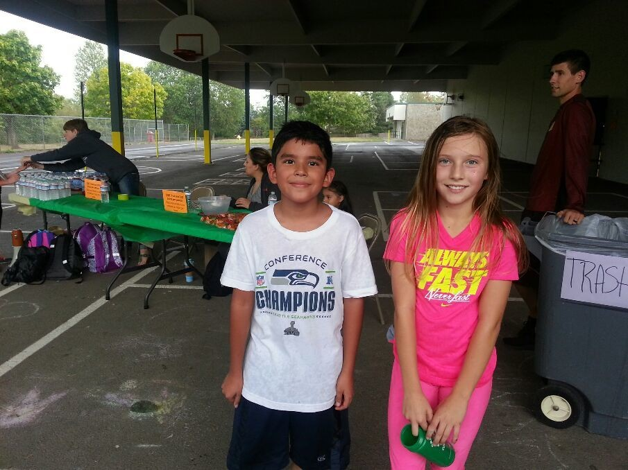 Mt Tabor fun run! Taylor wins 1st place for the girl's. Victor was 1st place for the boys and overall. He's a 5th grader... LOL! ;)