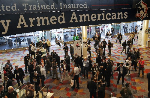 Gun industry gathers amid slumping sales, rising tensions