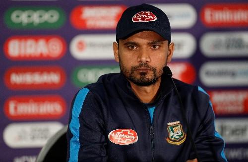 Cricket: Bangladesh captain Mortaza out of Sri Lanka ODIs due to injury